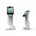 Cell phone  Security Display Stand with a Polishing Highlight Pearl White
