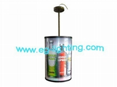 LED round rotating light box