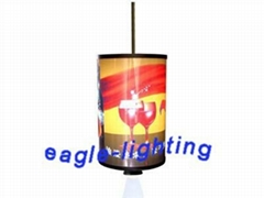 LED round rotating light box with 10W projector