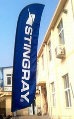 transfer printed Feather FlagFlying Banner for Outdoor Advertising Sign