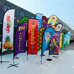 heat transfer printed feather flag(teardrop banner and bowhead banner)