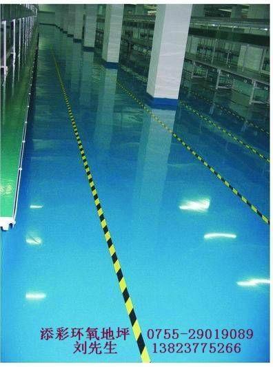 深圳电子厂防静电自流平地板 2