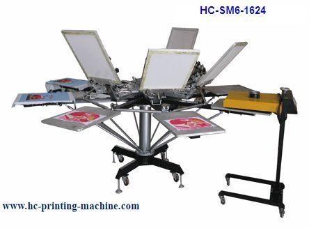 6 colour t shirt screen printer 1