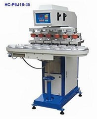 6 color pad printer with conveyer