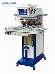 4 color pad printer with conveyor