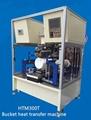 Bucket heat transfer machine, pail heat