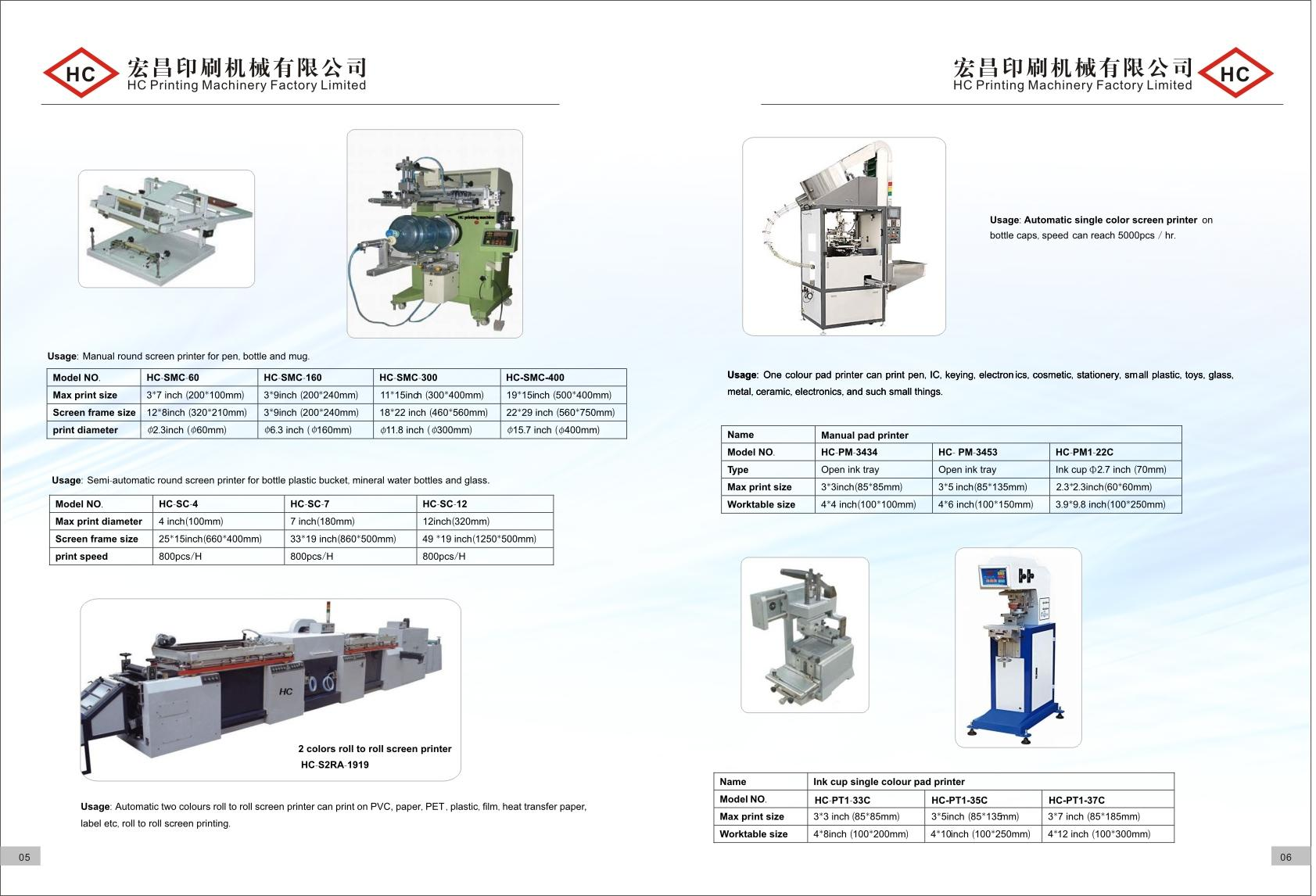 screen printer, pad printer, hot stamp machine, heat transfer machine, sublimat 7