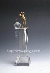 高爾夫球水晶獎杯