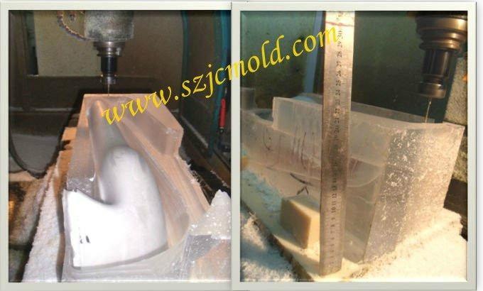 Transparent PMMA CNC rapid prototype 2