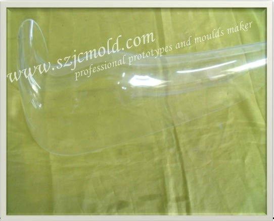 Transparent PMMA CNC rapid prototype 4