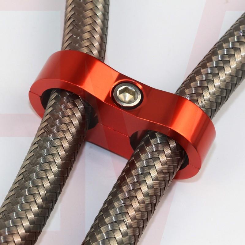 AN 4AN 6AN 8AN 10AN 12AN hose line separator clamp bracket 2