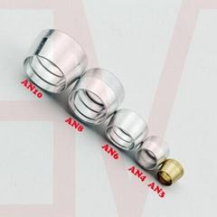 AN3 AN4 AN6 AN8 AN10 Tube Olive Sleeve Ferrule for PTFE Teflon Fitting Adapter
