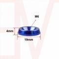 JDM M6 Engine Cover Bolt Fender Bumper Washer Dress Up Screw Kit Customized