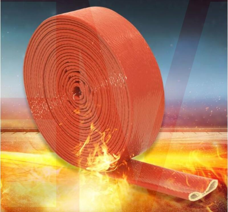 Flame-retardant Fire Proof Heat Resistant Silicone Glassfiber Sleeve Hose 1