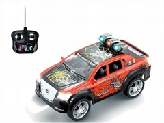 1:18 Radio control car 4-CH with colorful lights