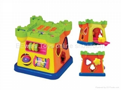 Multifunctional musical blocks toys castle