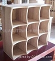 wood chequered tray,wooden CD storage rack