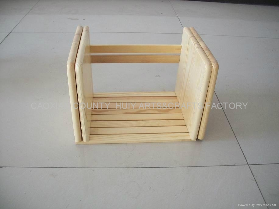 Wooden book rack /shelf 1