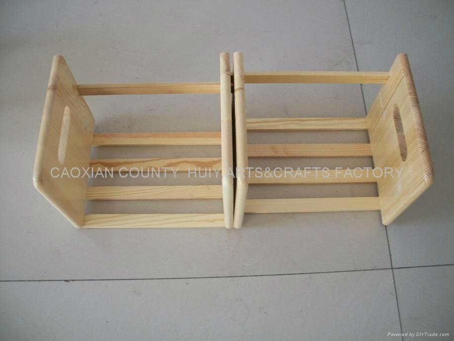 Wooden book rack /shelf 2
