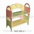 Wooden shelf for shoes