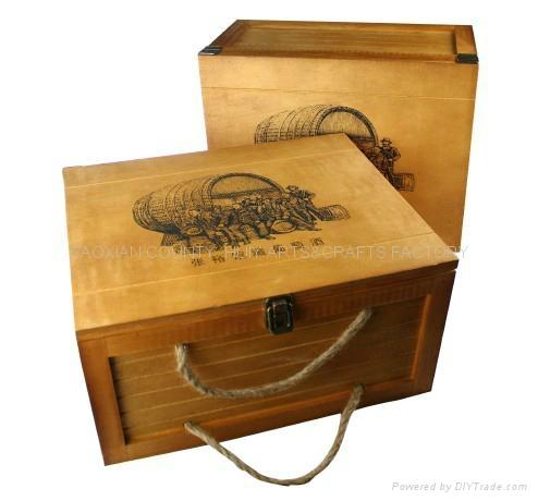 6 bottle wood box 1