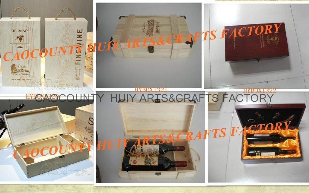 Wine box for 1 bottle,hinged lid,sliding lid,natural color or painted