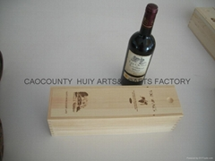 Wooden wine box for 1 bo