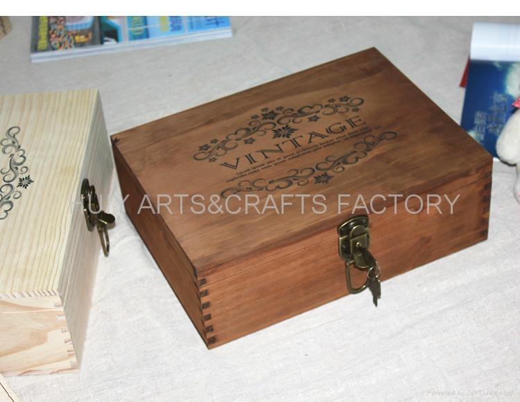 復古木盒子,鄉村田園風格木盒,收納盒 2