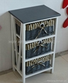 Wooden cabinet with wicker/rattan drawer