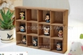 wooden wall cabinet, storage trunk with dividers wooden case