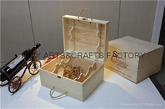 6 bottle wooden wine crate