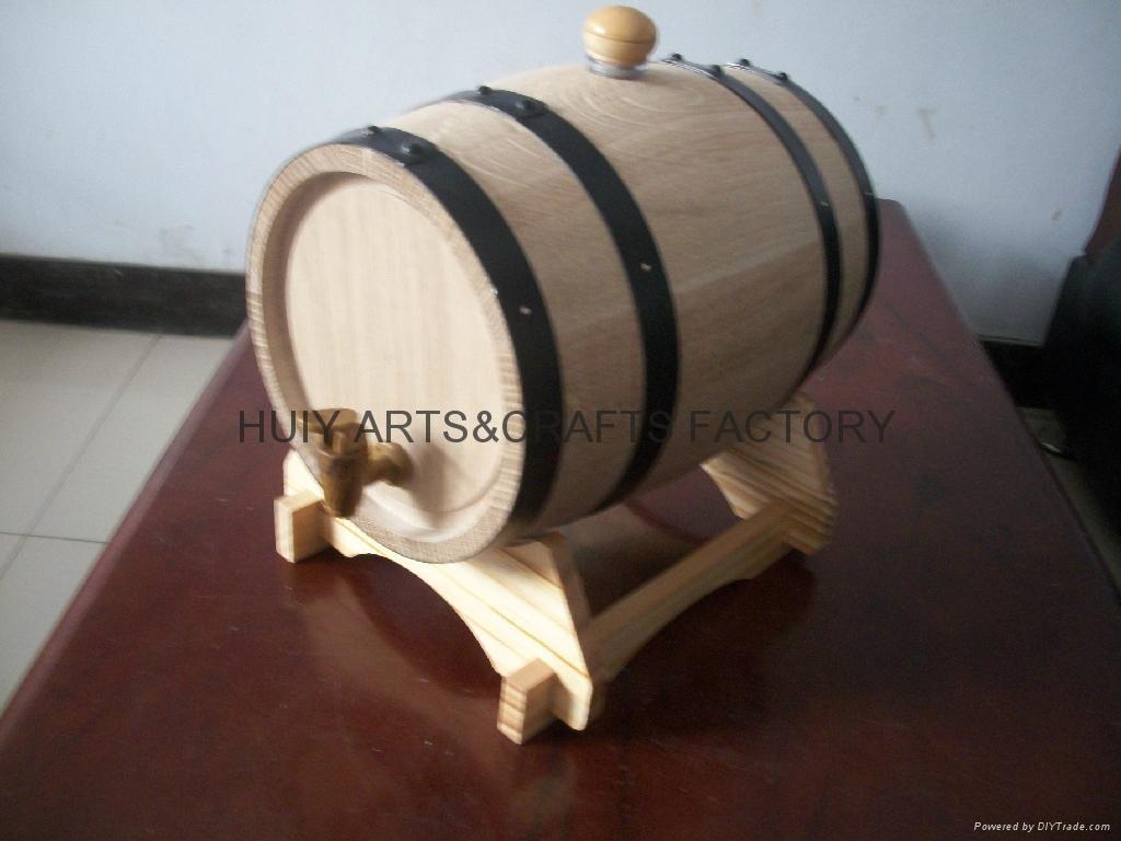 American Oak Barrel with Black Hoops 1