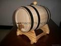 American Oak Barrel with Black Hoops 2
