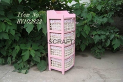 Home furniture wooden cabinet with wicker basket drawer