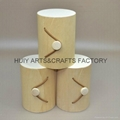 Round shape wooden tube for candy or