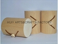 Round shape wooden tube for candy or cigarette