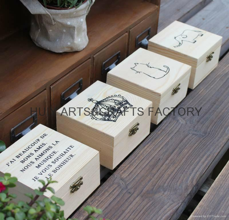 Small gift box promotional wooden gift box  2
