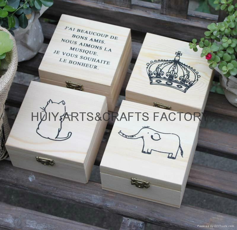 Small gift box promotional wooden gift box  4