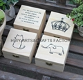 Small gift box promotional wooden gift box