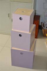 Colorful wood storage  box