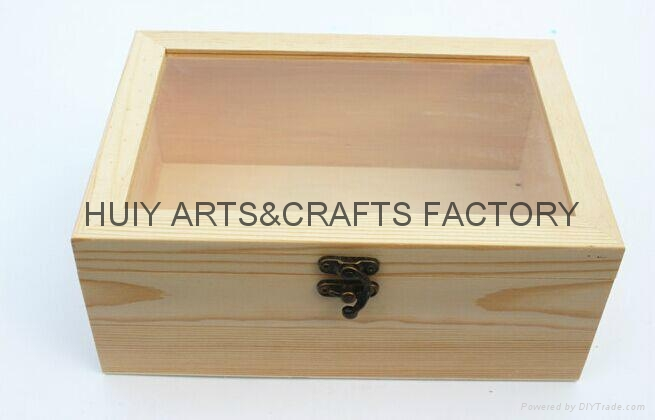Unfinished wooden box with many dividers and hinged lid 4