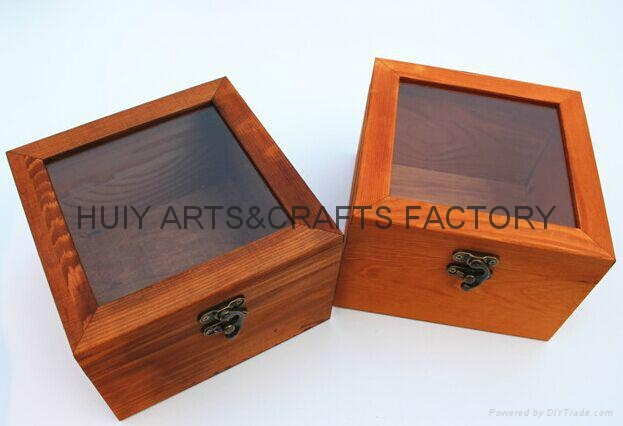 Unfinished wooden box with many dividers and hinged lid 7