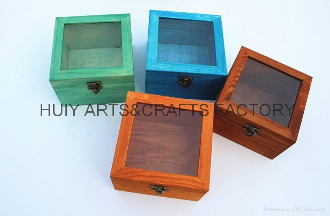 Unfinished wooden box with many dividers and hinged lid 9
