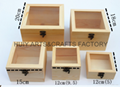 Unfinished wooden box with many dividers and hinged lid 16