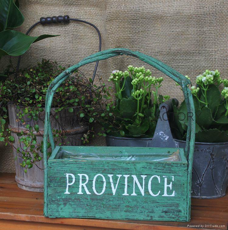 Wooden garden flower planters and pots               11