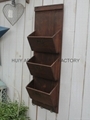 Wooden garden flower planters and pots               15