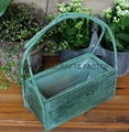 Wooden garden flower planters and pots               1
