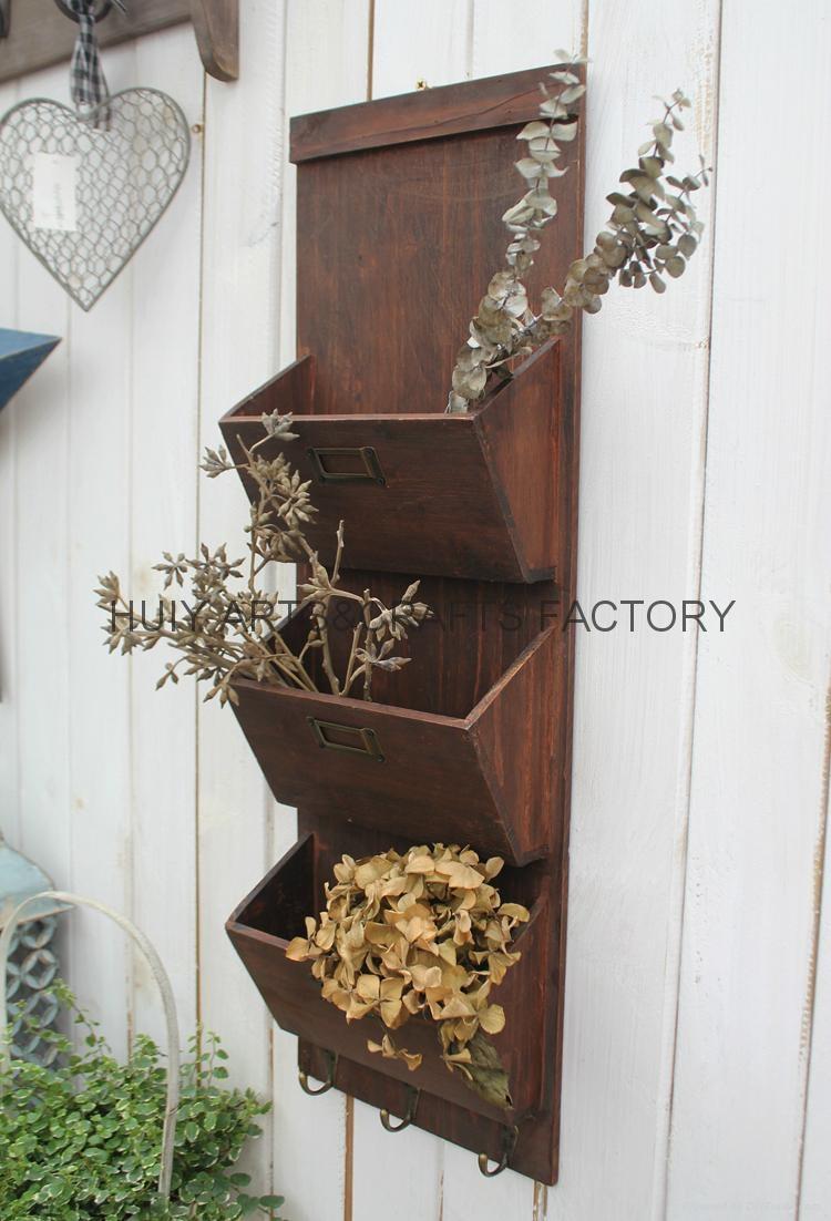 Wooden garden flower planters and pots               17