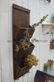 Wooden garden flower planters and pots