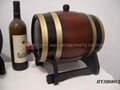 5L dark brown color wine barrel with